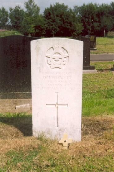 Grave of Sergeant William James Hackett at Buxton Cemetery, Derbyshire