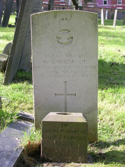 Grave of Sergeant William Arthur Billy Marwood at Nottingham General Cemetery