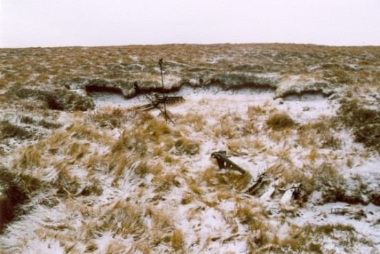 Crash site of Airspeed Oxford Mk.I HN429 on Axe Edge near Buxton