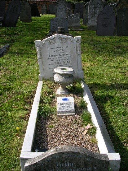 Grave of Sergeant Eric Lane at Nottingham General Cemetery