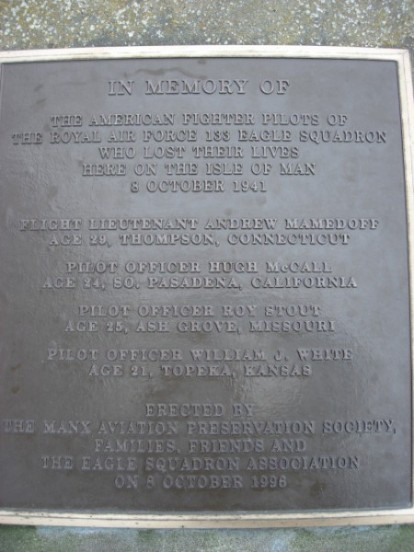 Memorial plaque at Maughold churchyard