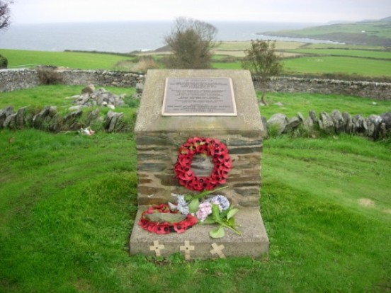 Memorial in Maughold churchyard