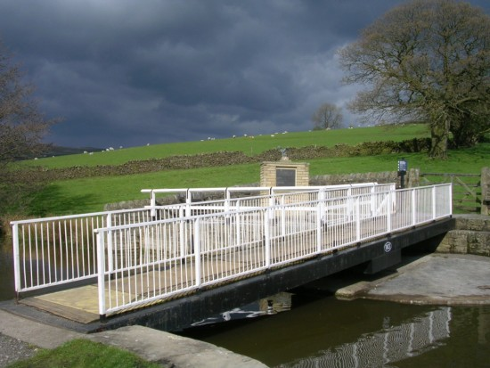 Memorial at Bridge 183 on the Leeds Liverpool Canal, Low Bradley, Skipton, close to the crash site of Vickers Wellington HZ251, North Yorkshire