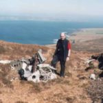 The starboard wing root at the crash site of Vought Corsair JT461 at Enegars, Isle of Hoy
