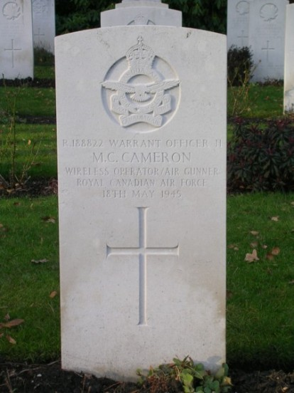 Warrant Officer Michael Cecil Cameron at Brookwood Military Cemetery, Wireless Operator