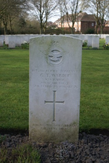 Grave of Sergeant Grant Taylor Wardle at Chester Blacon Cemetery
