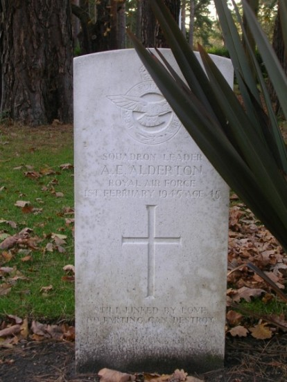 Grave of Squadron Leader Archibald Alderton at Brookwood Military Cemetery, Surrey