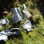 Wreckage at the crash site of Blackburn Skua near High Bentham, Lancashire