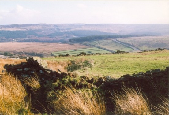 Crash site of Handley Page Hampden Mk.I L4055 near Holmfirth, West Yorkshire