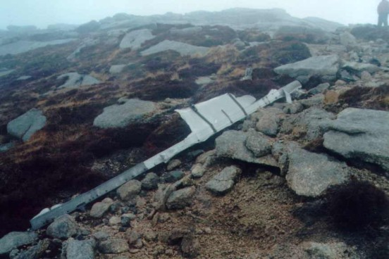 Section of spar from L4479 near the crash site on Goat Fell, Isle of Arran