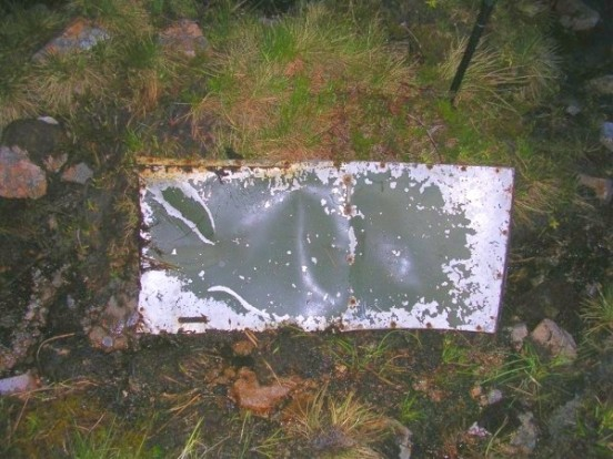 Access door from Vickers Wellington L7867 near the crash site on Geal-charn