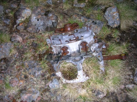Bristol Pegasus engine from Vickers Wellington L7867 on Geal-charn, Corrour