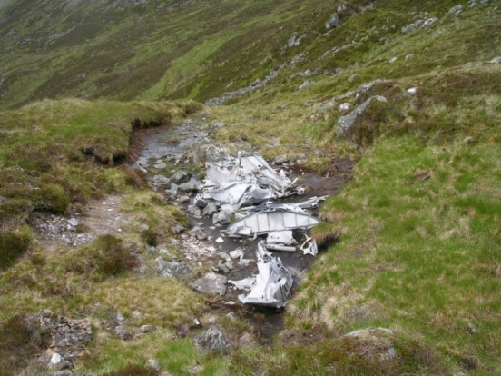 Wreckage of Vickers Wellington Mk.IC L7867 in Bealach Dubh