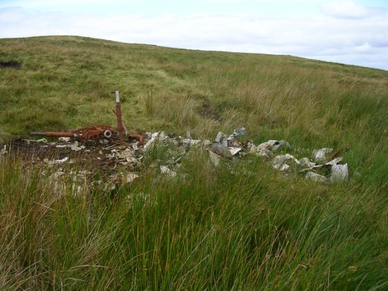 Crash site of Avro Anson L7949 on Lairdside Hill near Lochwinnoch