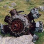 Bristol Mercury engine from Blenheim Mk.IV L9039 at the Craig yr Ysfa cliffs