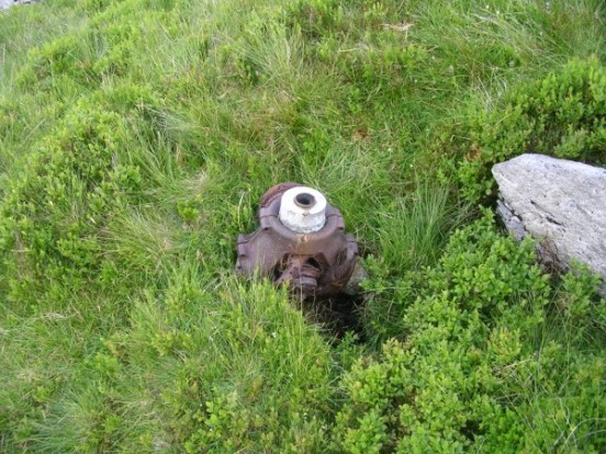 Propeller hub from Bristol Blenheim L9039 on Craig yr Ysfa
