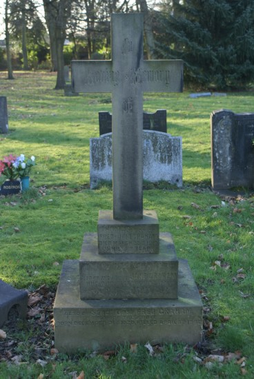 Sergeant Fred Graham's grave at Bury Cemetery