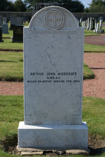 Grave of Flight Lieutenant Arthur John Woodgate, killed in Hawker Hurricane Mk.IIC LF207 near Kilchoan, Ardnamurchan