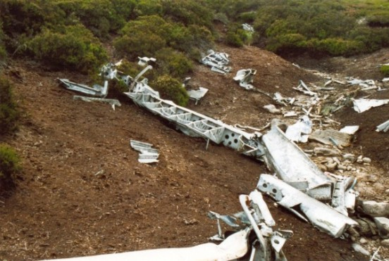 Control surface at the crash site of Short Stirling LJ628 on Upper Commons, Langsett