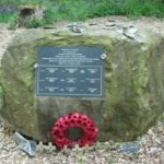 Memorial at the crash site of Handley Page Halifax Mk.III LK878 at Felixkirk, Thirsk, North Yorkshire
