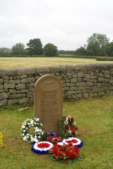 The crash site of Vickers Wellington Mk.X LP397, viewed from the memorial