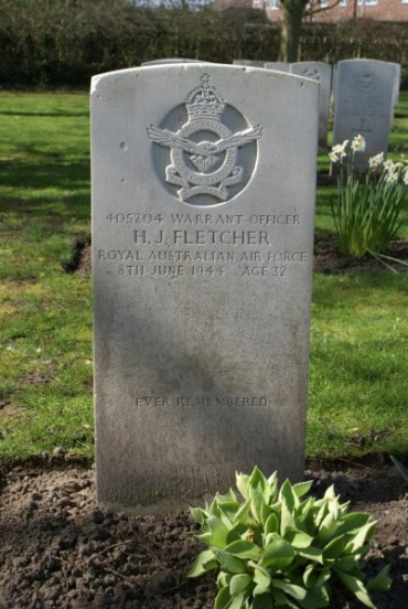 Grave of Warrant Officer Harold Jackson Fletcher at Chester Blacon Cemetery
