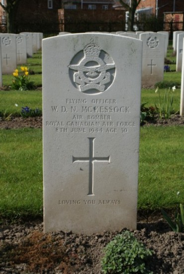Grave of Flying Officer William Donald Nelson McKessock at Chester Blacon Cemetery