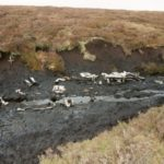 Wreckage at the crash site of Airspeed Oxford Mk.I LX518 on Featherbed Moss, Outer Edge, Margary Hill