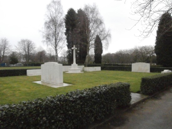 Manchester Southern Cemetery war graves plot