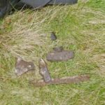 Small pieces of wreckage found at the crash site of Vickers Wellington Mk.10 MF627 on Rod Moor, Sheffield