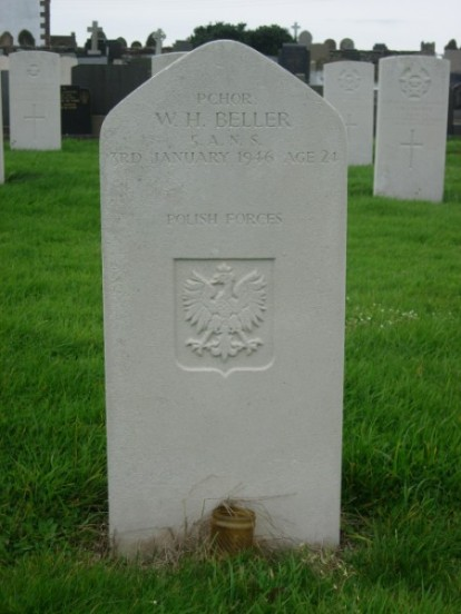 Grave of Flight Sergeant Wladyslaw H. Beller at Jurby Churchyard