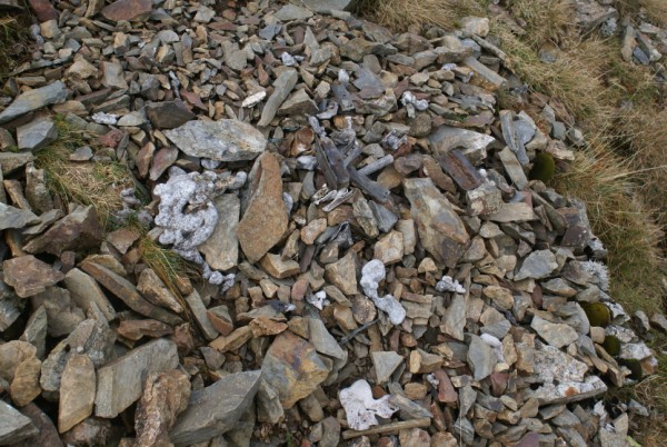 Wreckage at the crash site of Avro Anson Mk.I MG464 on Grisedale Pike, Keswick