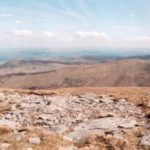 The crash site of Avro Anson MG804 on Foel Fras, the Carneddau