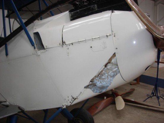 Part from de Havilland Moth G-EBWA superimposed on to another DH60X