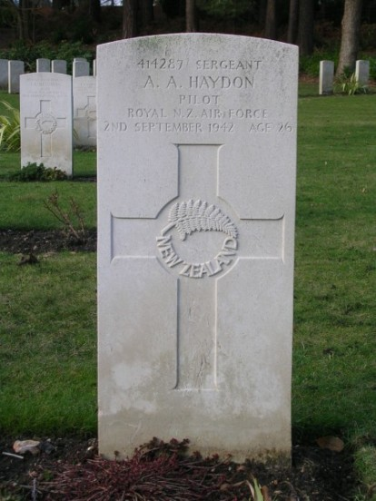 Grave of Albert Augustine Sergeant Haydon at Brookwood Military Cemetery