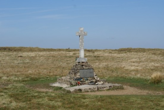 Vickers Wellington Mk.IC N2848 memorial at the crash site on Buckden Pike, Yorkshire