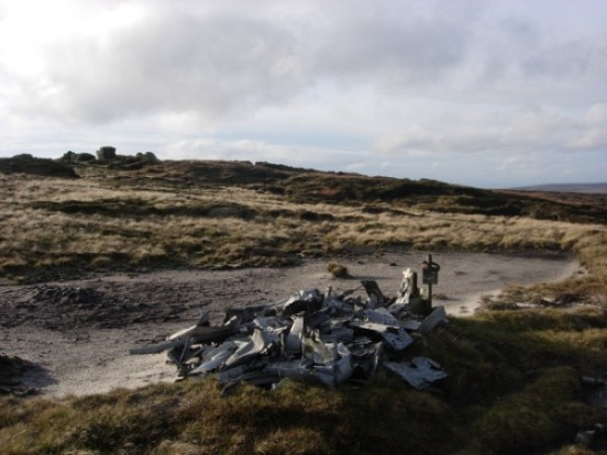 Crash site of Boulton Paul Defiant Mk.I N3328 at Near Bleaklow Stones, Bleaklow, Derbyshire