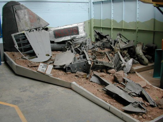 Wreckage from Boulton Paul Defiant N3378 on display at the Boulton Paul Aircraft Hertiage Project, Wolverhampton, it has since moved from there