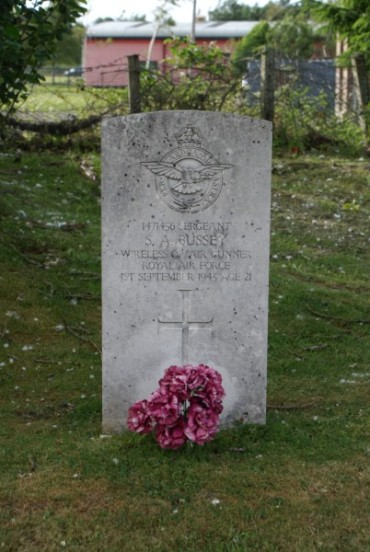Grave of Sergeant Sidney Arthur Bussey at Newton Stewart Cemetery