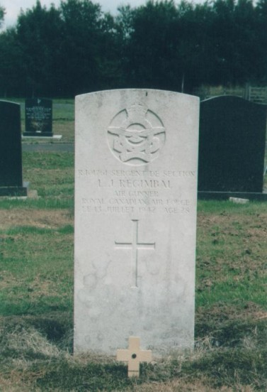 Grave of Sergeant de Section Leo Joseph Regimbal RCAF at Buxton Cemetery, Derbyshire
