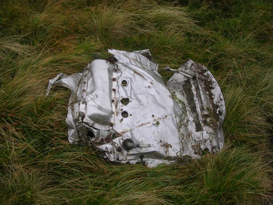 Wreckage from Lockheed Hudson Mk.I N7235 near Loch Bradan