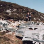 Port wing at the crash site of Lockheed Hudson N7310 on Withi Gill, Isle of Hoy