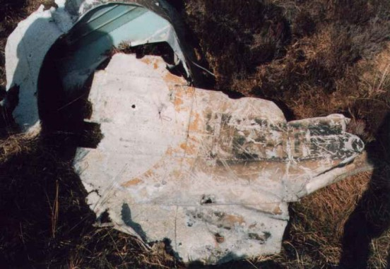 Fuselage section from Lockheed Hudson N7310 near the crash site on the Isle of Hoy