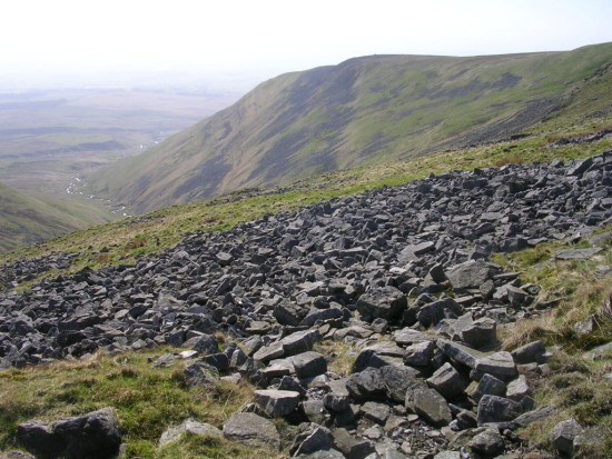 View from the crash site of Lockheed Hudson N7325 on Cross Fell