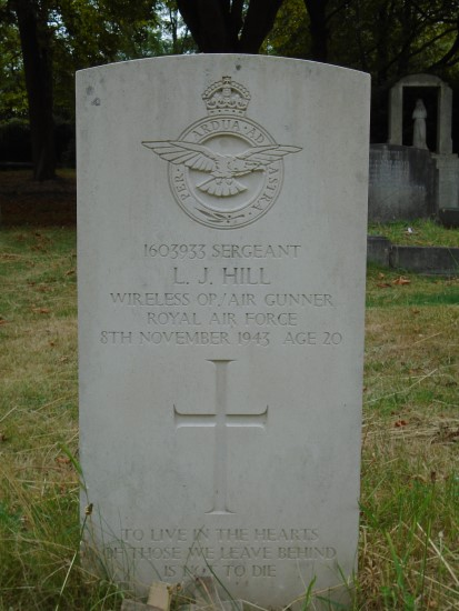 Grave of Sergeant Leslie John Hill at the City of London Cemetery, Manor Park