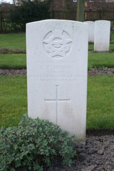 Grave of Sergeant Ernest Andrew Hoagg at Chester Blacon Cemetery