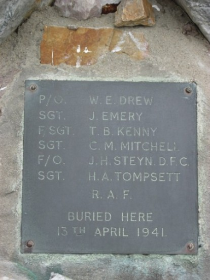 Memorial plaque at the crash site of Avro Anson N9857
