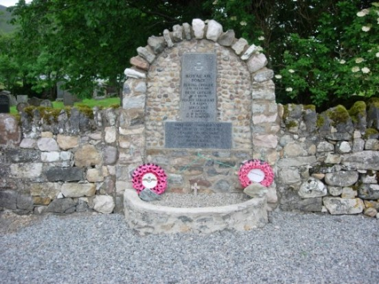 Memorial in Inchnadamph in memory of the crew of Avro Anson N9857
