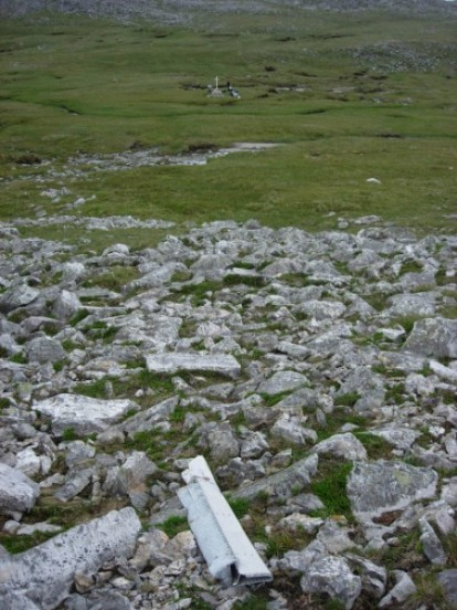 Wreckage near the crash site of Avro Anson Mk.I N9857 on Imir Fada, Ben More Assynt