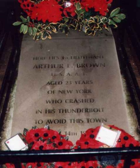 Memorial / Grave at the crash site of Republic P-47D Thunderbolt 42-7925 off Shrewbridge Road, Nantwich, Cheshire
